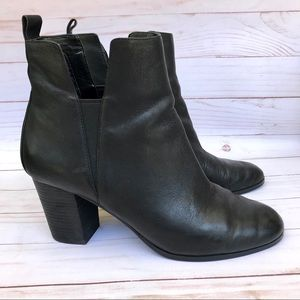 Cole Haan Black Pull On Ankle Boots Size 9